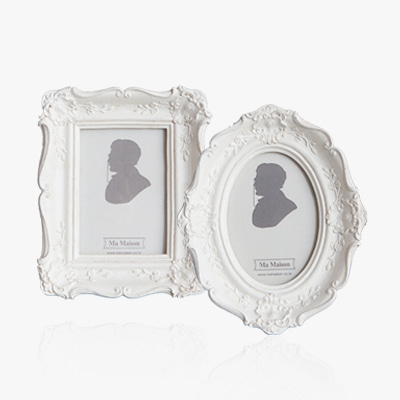 4 types of white small photo frame (K23F455C1-C3, 455X)